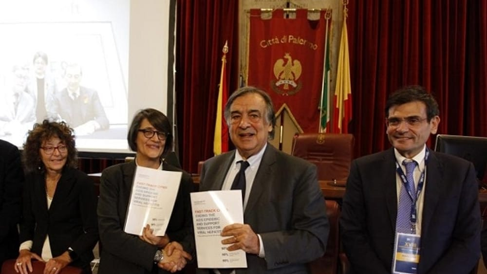Da sx D'Arminio Monforte, Rosaria Iardino, Leoluca Orlando, Antonio Cascio-2