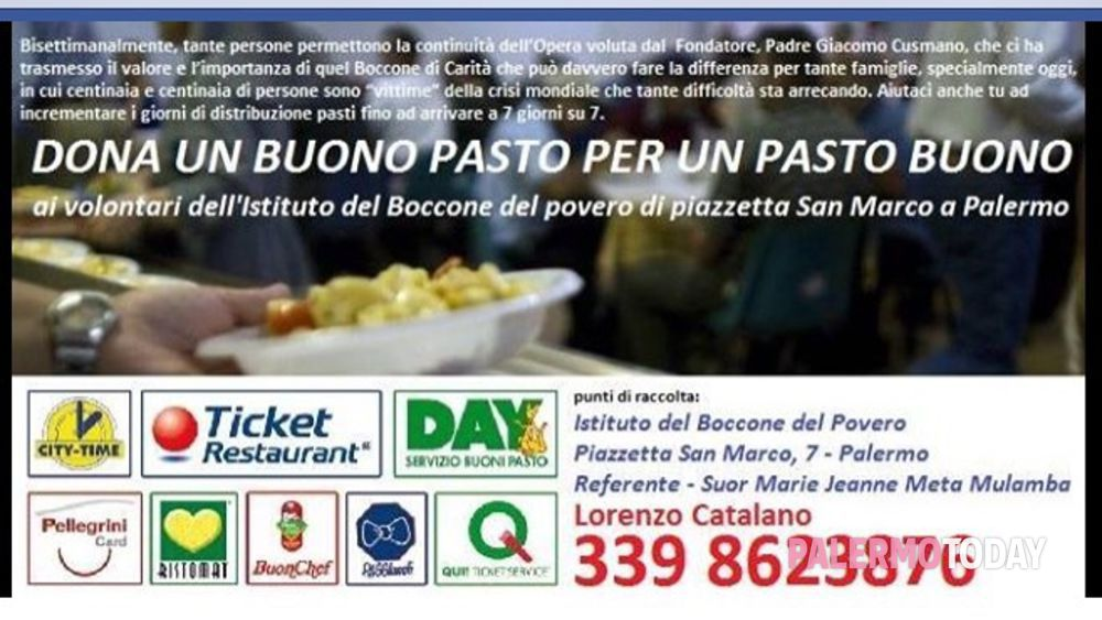 """""""Dono un pasto con il sorriso"""" campagna a sostegno del boccone del povero di piazzetta San Marco, 8  a Palermo-10"""