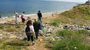 pulizia spiaggia costa sud-2