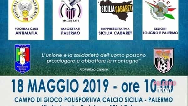 Calcio e solidarietà per i giudici Falcone e Borsellino, l'appuntamento in città