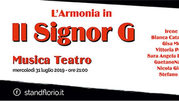 """La canzone che diventa teatro, """"Il Signor G"""" di Gaber in scena allo Stand Florio"""