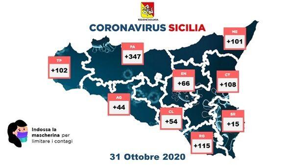 contagi 31 ottobre tabella regione 2-2