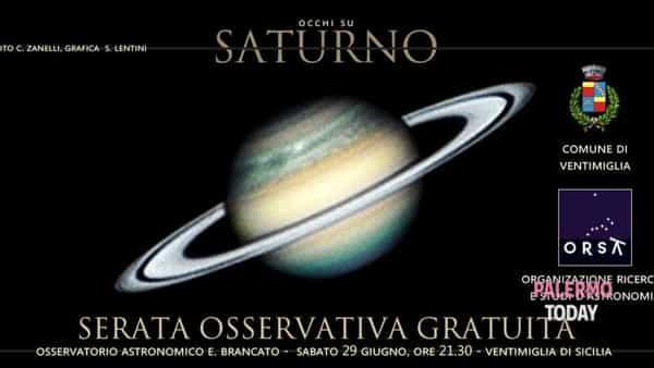 Occhi su Saturno, appuntamento astronomico a Ventimiglia di Sicilia