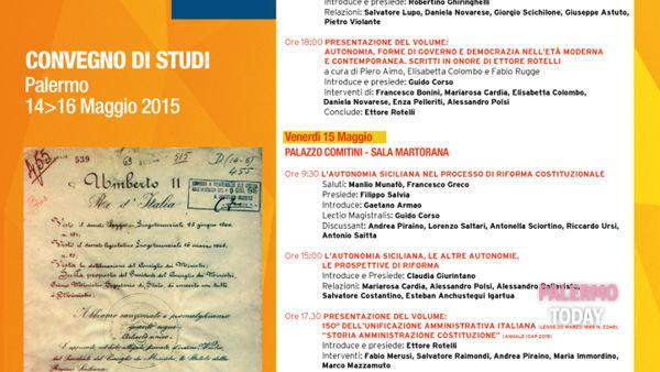 Settant'anni di Autonomia siciliana, la tre giorni a Palermo