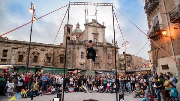 L'Albergheria tra arti di strada, musica, danza e anche circo: al via Ballarò Buskers