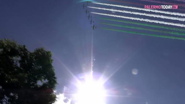 VIDEO | Da Codogno a Palermo: le Frecce disegnano un Tricolore che abbraccia l'Italia intera