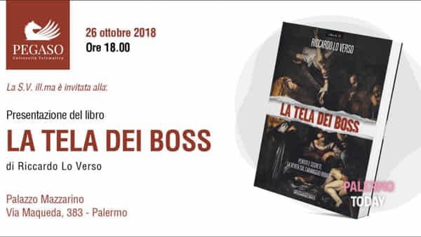 """""""La tela dei boss"""", Riccardo Lo Verso presenta il suo libro a Palazzo Mazzarino"""
