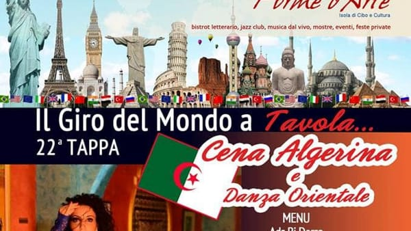 Cena algerina e danza orientale da Forme d'Arte