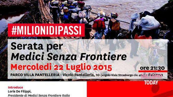 #Milionidipassi, serata per Medici senza frontiere a villa Pantelleria