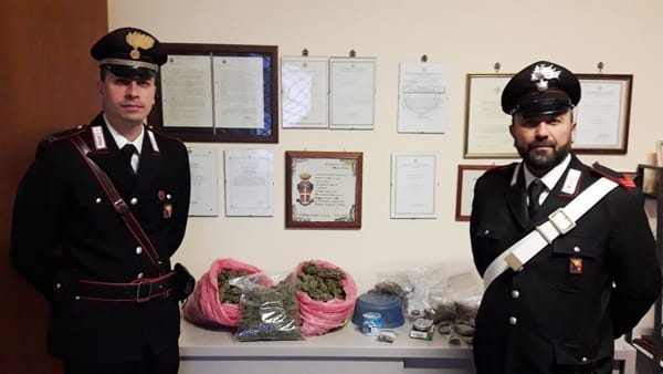 Balestrate, in casa aveva 2,5 chili marijuana: arrestato 45enne