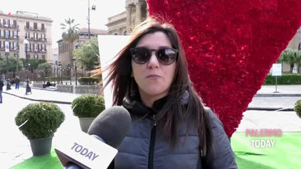 San Valentino, davanti al Teatro Massimo spunta un cuore fatto da 6 mila garofani rossi | VIDEO