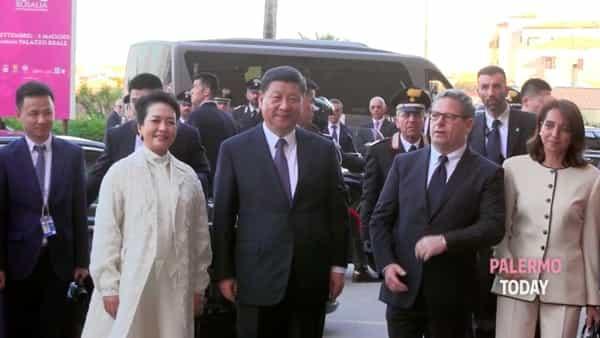Da Punta Raisi alla sede dell'Assemblea regionale, le immagini della visita di Xi Jinping| VIDEO