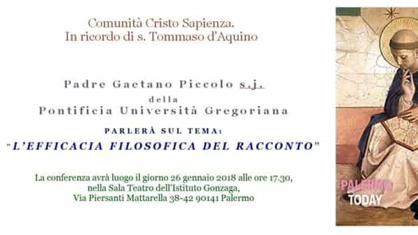 """""""L'efficacia filosofica del racconto"""", la conferenza all'istituto Gonzaga"""