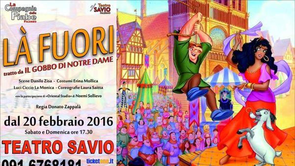 """""""Là fuori"""", il Gobbo di Notre Dame al Teatro Savio"""