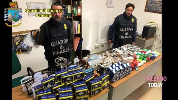 VIDEO | Blitz della finanza a Carini: le immagini dei prodotti pericolosi sequestrati