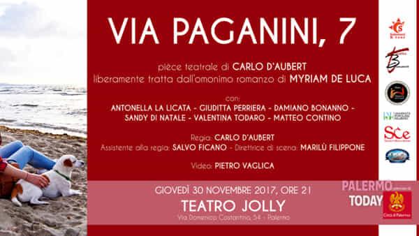"""Simbiosi mentale, emozionale e introspettiva: al Teatro Jolly in scena """"Via Paganini, 7"""""""