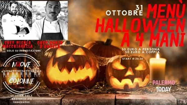 Cena a quattro mani, Halloween night a Bagheria: l'appuntamento alle Nuove Colonne