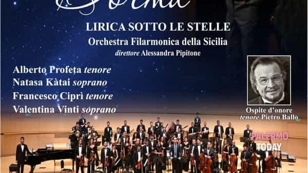 """""""Nessun dorma"""", lirica sotto le stelle all'anfiteatro Villa al mare di Terrasini"""