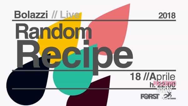 Random Recipe in concerto, il live del mercoledì da Bolazzi