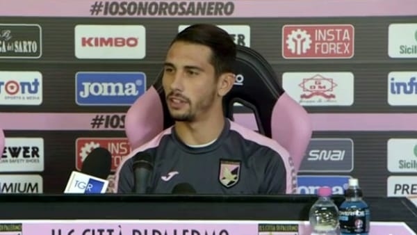 Edoardo Goldaniga in conferenza strana