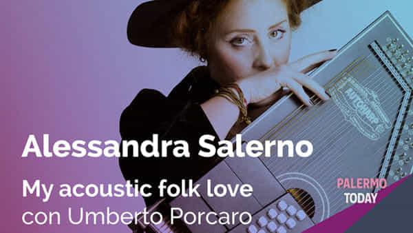"""""""My acoustic folk love"""", Alessandra Salerno in un concerto live allo stand Florio"""