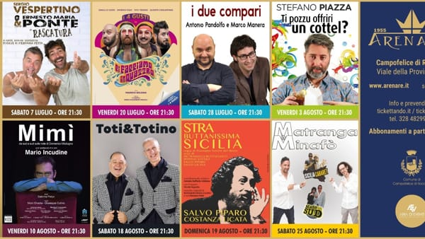 Teatro e cabaret sotto le stelle, la nuova edizione a Campofelice di Roccella