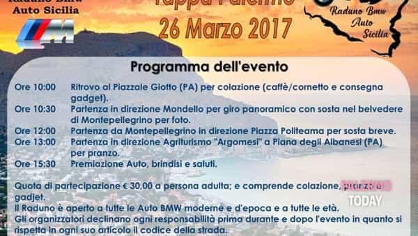 Piazzale Giotto, quinto raduno Bmw auto Sicilia