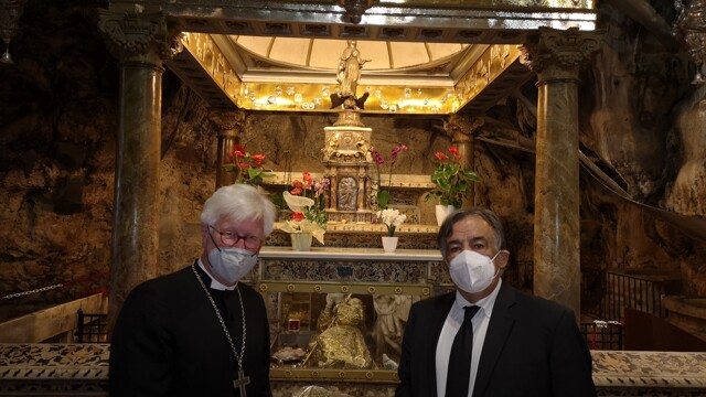"""The bishop of the German Evangelical Church at the Mass of Santa Rosalia: """"Here an extraordinary welcome"""" thumbnail"""