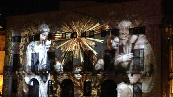 "Videomapping, danza e arte contemporanea: in piazza Pretoria prende vita ""I Art 4 Christmas"""