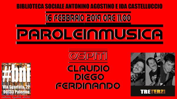 Parole in musica, il concerto dei Tre Terzi alla biblioteca Agostino e Castelluccio