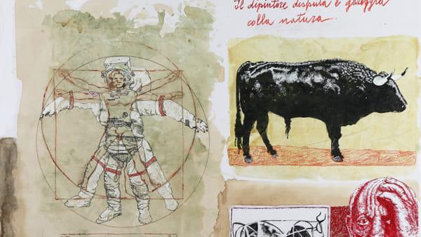 Le favole di Leonardo da Vinci, la mostra di Beppe Madaudo al loggiato San Bartolomeo