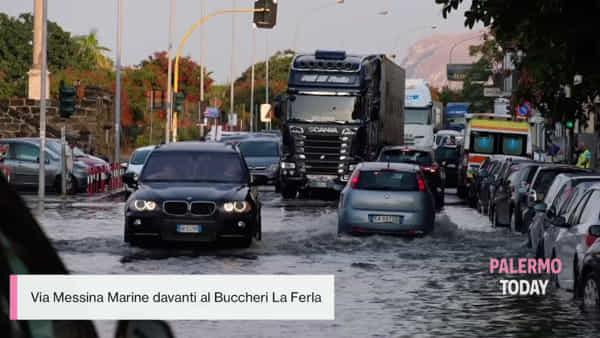Civico allagato e mezza città sott'acqua: le immagini del temporale su Palermo | VIDEO