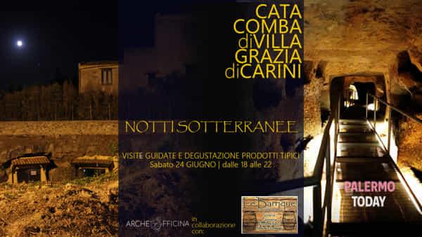Notti sotterranee, visite archeologiche e degustazione alla catacomba di Villagrazia di Carini