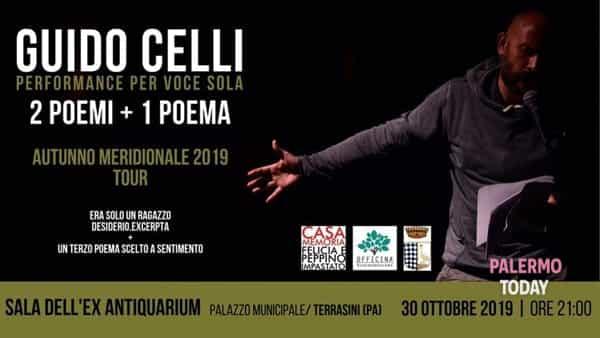 Due poemi più un poema, il poeta romano Guido Celli a Terrasini