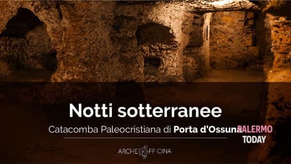 Notti sotterranee, apertura straordinaria serale della catacomba di Porta d'Ossuna