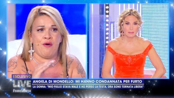 "VIDEO | Angela da Mondello in lacrime dalla D'Urso: ""Mio figlio è morto e ho perso la testa"""