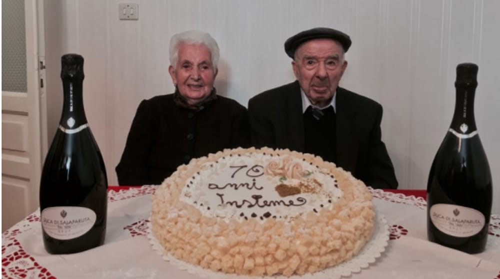 Anniversario Di Matrimonio 70 Anni.Nozze Da Record Festeggiati 70 Anni Di Matrimonio A Gangi
