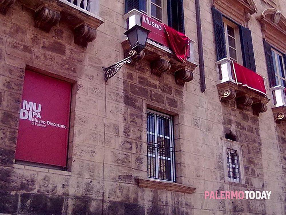 L'ingresso del Museo Diocesano di Palermo