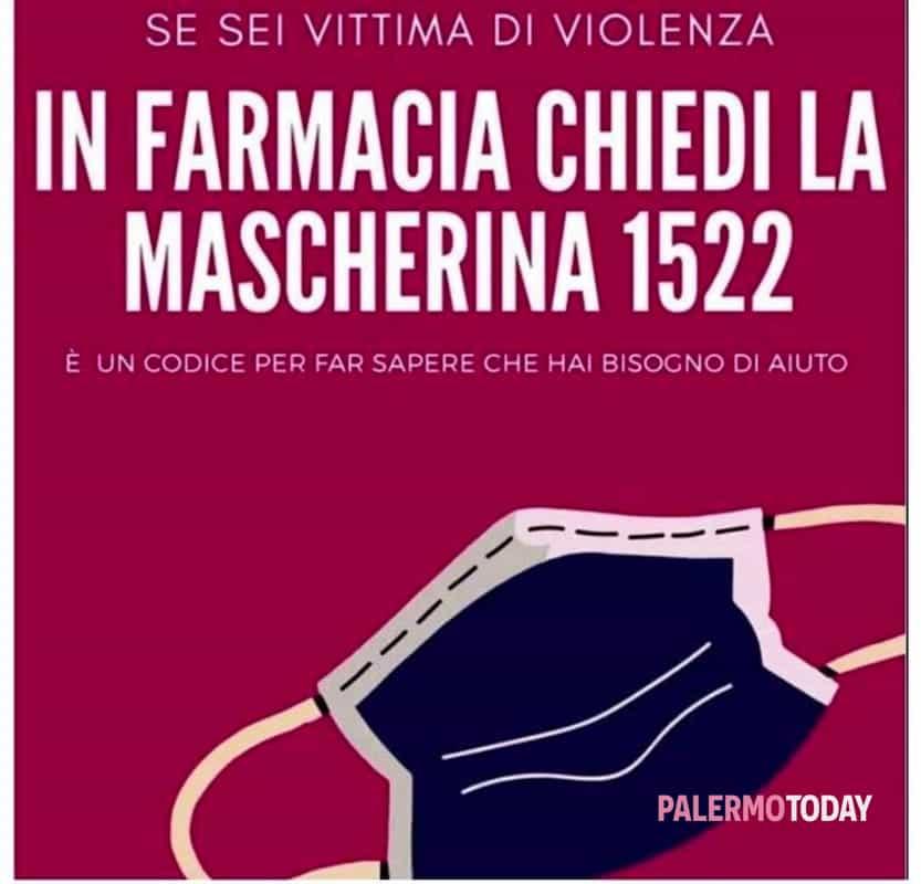 virus e violenza sulle donne mascherina 1522 e la parola in codice segnalazione a palermo violenza sulle donne mascherina 1522
