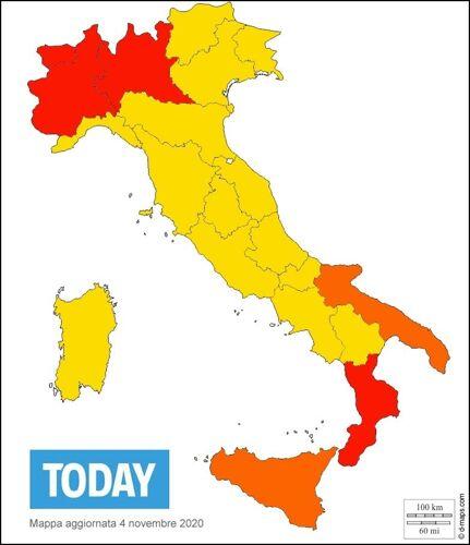 la mappa delle regioni rosse gialle arancioni-2-2