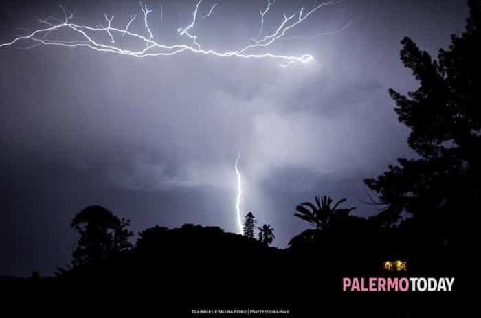 Temporale a Palermo - foto Gabriele Muratore
