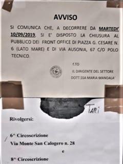 Avviso affisso a Piazza Giulio Cesare-3